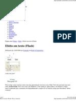 Efeito Em Texto (Flash) _ Dicas e Tutoriais