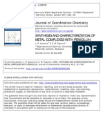 Synthesis and Characterization of Metal Complexes With Penicillin