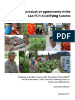 Laos Agribusiness Farmers Trade Sustainability LEAP Fullbrook 2011