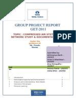 Compressed Air System Network Study and Documentation (Emp Nos-202915, 203000, 202957, 202972, 202992)
