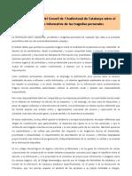 Recomendaciones del Consell de l'Audiovisual de Catalunya sobre el tratamiento informativo de las tragedias personales