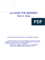 Across the Barrier - Helen Dallas