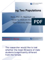 Comparing Two Populations (Seminar 5)