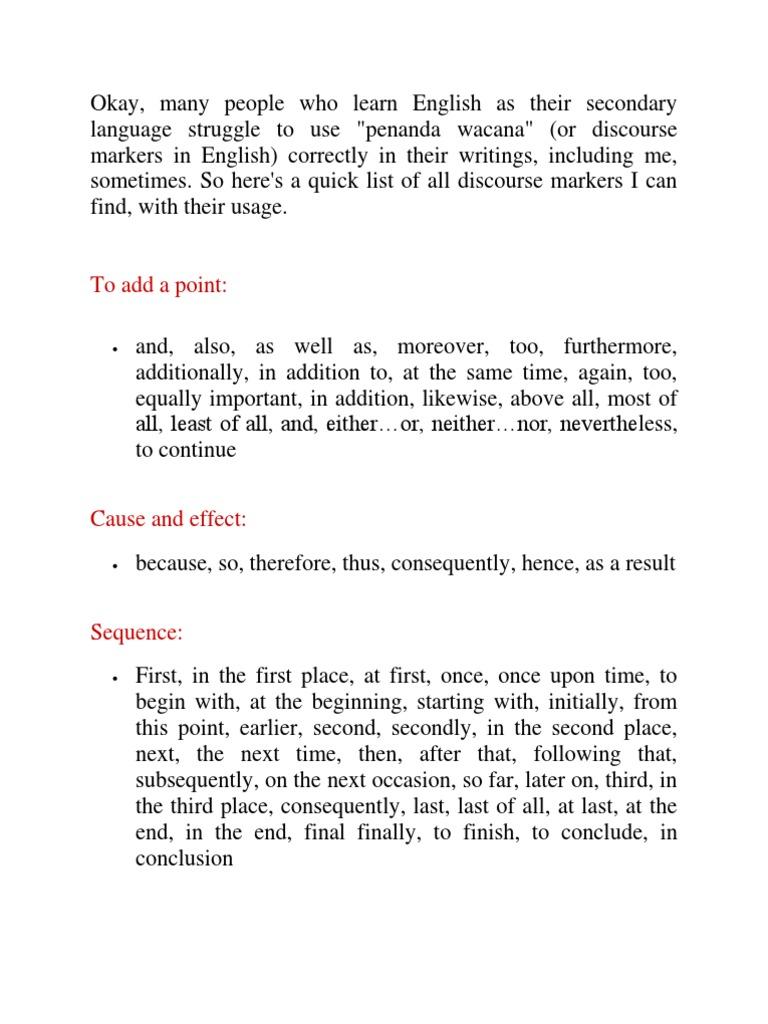 Penanda Wacana English Truth Epistemology