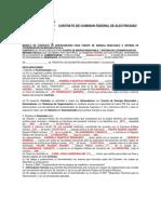 Contrato de La Comision Federal de Electricidad