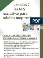 Cuales son las 7 garantías GES exclusivas AM