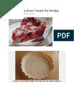 Berrylicious Sour Cream Pie Recipe