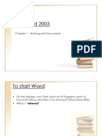 Chapter 01-Working With Documents