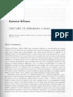 Raymond Williams - Culture is Ordinary