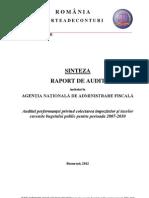 Document 2012 05-29-12382955 0 Sinteza Raport Audit Anaf Colectare