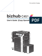 Bizhub c 451 User Guide Copy Oper