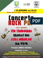 Volantino Concerto Fraternitas 16 Giugno