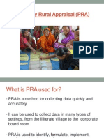 Participatory Rural Appraisal (PRA) Training Presentation