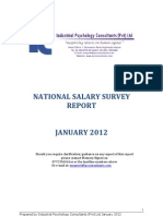 National Salary Survey Report January 2012- Table of Contents