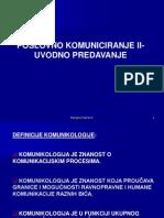 Poslovno Komuniciranje II-uvod i