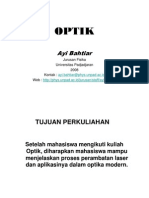Optik Materi Referensi Kontrak Kuliah