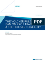 The Volcker Rule Ban on Prop Trading - A Step Closer to Reality - October 2011 FINAL1