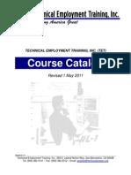 TET Course Catalog 5-1-11