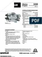 CAT 3208 Mrine Engine Specification