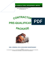 Contractor Registration Package - Civil Works