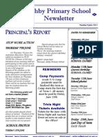 Ashby Primary School Newsletter June 5, 2012