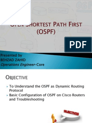 OSPF Presentation | Routing | Router (Computing)