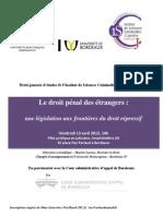 Droit pénal des étrangers; 13 avril 2012