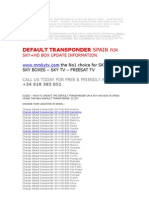 Spain Default Transponder How to Chnage Sky Hd and Sky Box Spain Default Transponer