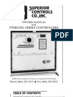 Superior Controls Sterling 12 sprinkler system manual