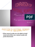 Comparison of Rational Number