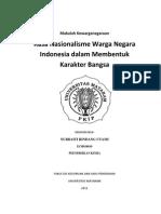 Rasa Nasionalisme Warga Negara Indonesia Dalam Membentuk Karakter Bangsa