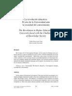 La Revolucion Educativa El Reto de La Universidad Ante La Sociedad Del Conocimiento