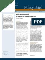 Maritime Boundaries in the Eastern Mediterranean Sea