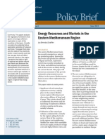Energy Resources and Markets in the Eastern Mediterranean Region