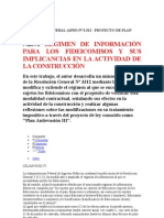 RÉGIMEN DE INFORMACIÓN PARA LOS FIDEICOMISOS(CRONISTA) Y SUS IMPLICANCIAS EN LA ACTIVIDAD DE LA CONSTRUCCIÓN(RG 3312)