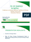 Energy Consumption in Nepal