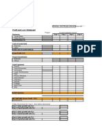 Generic Project P&L Template