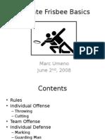 Ultimate Frisbee Basics