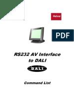 7860077 RS232 to DALI Command List V4