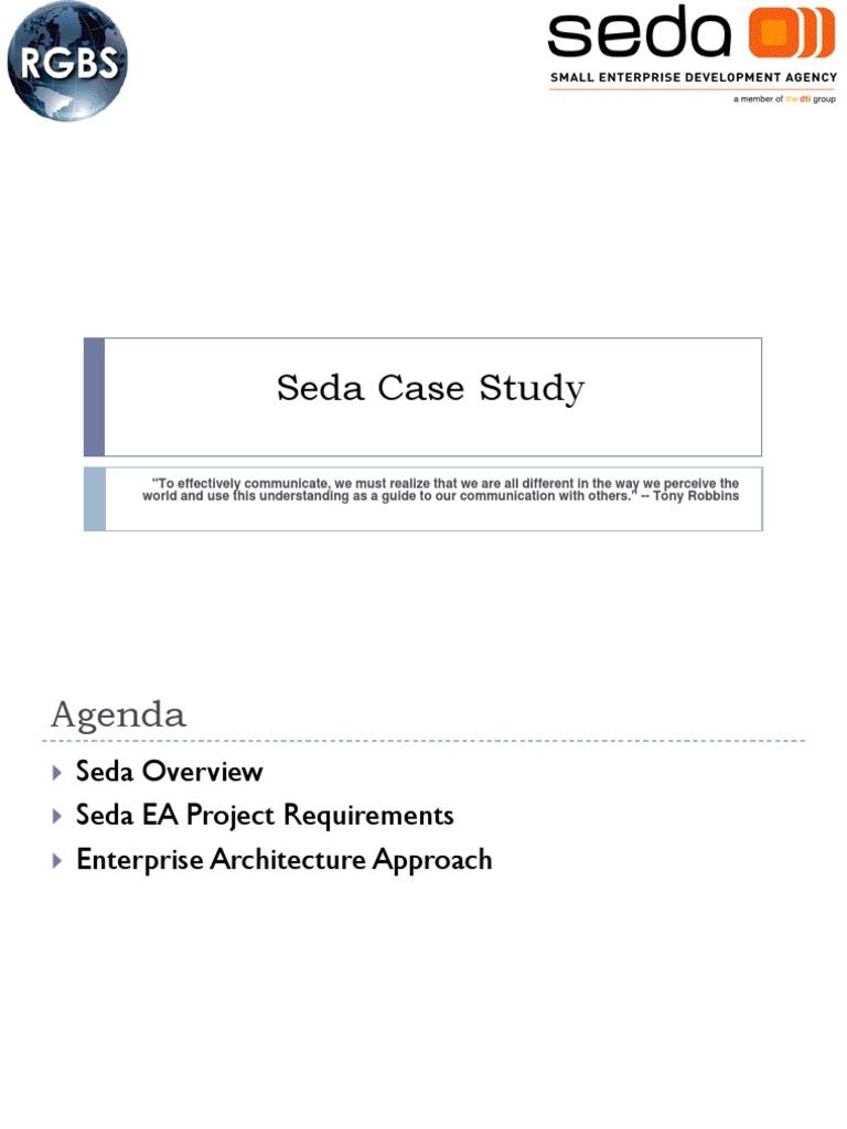 Seda Case Study Ver1 0 0 | Enterprise Architecture | Business Process