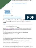 Blog Mechguru Com Machine Design Example of Concrete Anchor Bolt Design Calculation Part 6 Determining Concrete Breakout Strength of Anchor in Shear