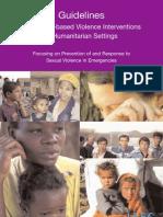 Guidelines for Gender-Based Violence Interventions