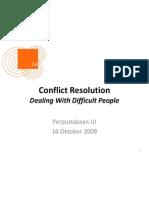 Conflict Resolution Slide