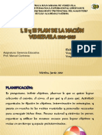 I, II y III Plan Nacion en Educación - Venezuela