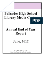 Palisades High School Library 2011-2012 Annual Report