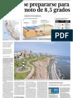 Posible terremoto de 8,5 grados en Lima Perú