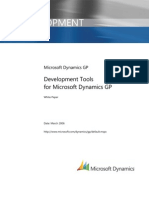 Development Tools Microsoft Dynamics Gp