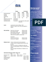 MEDIA, Fourth Page (Rates and Dimensions)