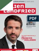 Affiche de campagne de Julien Landfried (2nd tour)