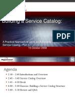 ITIL Building a Service Catalog 1